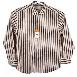 Tommy Bahama striped Rail Time long sleeve XL NWT
